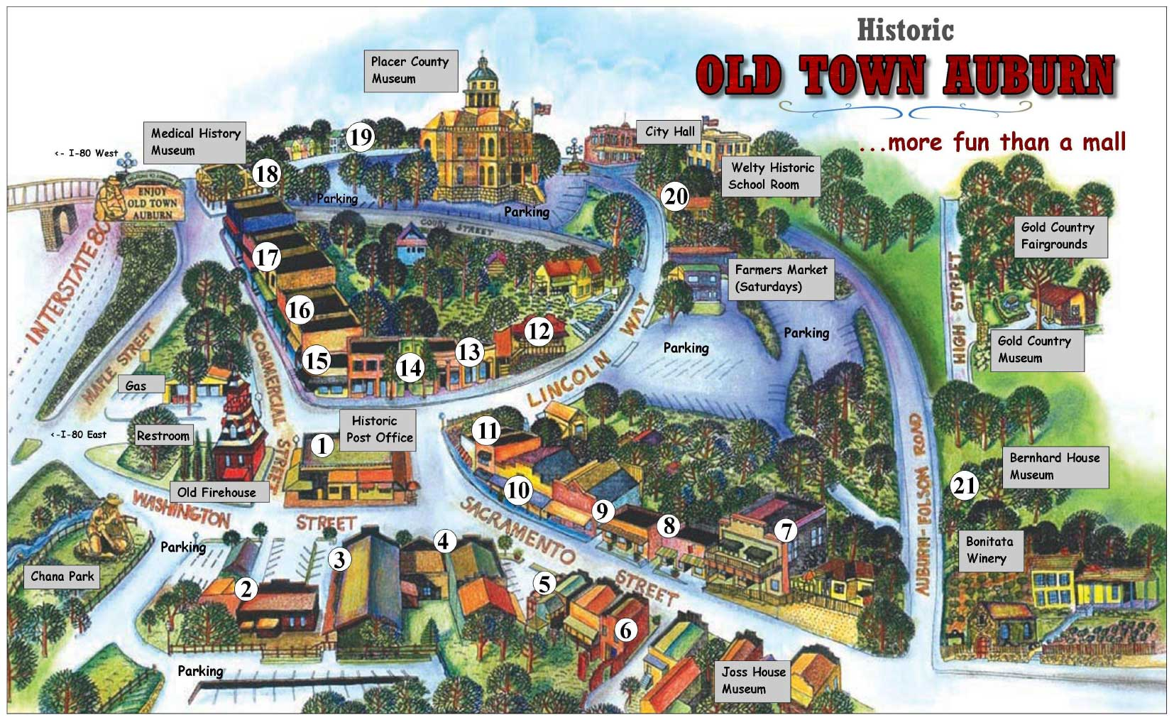 Old Town Auburn Walking Map