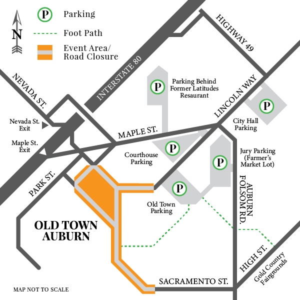 Old Town Auburn Parking Map