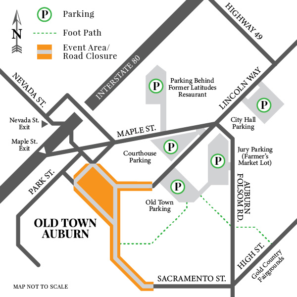 Old Town Auburn Co-op Parking Map